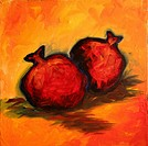 'Autumn Fruit' 10 x 10' oil on canvas 2002