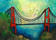 'Golden Gate' 9 x 12' Acrylic on canvas. 2006