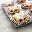 Tray of mince pies