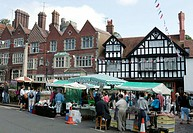 A farmers market at Arundel, West Sussex