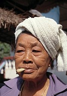 Smoking Thai woman, Thailand