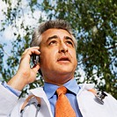 Physician Using Cell Phone