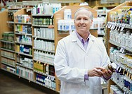 Pharmacist in Health Food Store