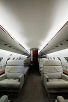 Interior of Private Jet