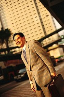 Businessman Waiting for Taxi (thumbnail)