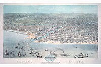 Bird´s Eye View of Chicago in 1868