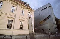 Germany, Berlin cross mountain,  Jewish museum  Europe, Central Europe, capital, district Berlin Kreuzberg buildings construction museum buildings arc...