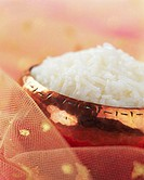 Basmati Rice in Copper Bowl