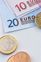 Euro Coins and Paper Money