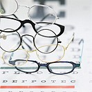 Eyeglasses on Eye Chart (thumbnail)
