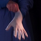 Surgeon Wearing Latex Glove