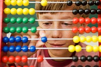 Boy Using Abacus