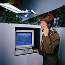 Woman at Weather Computer