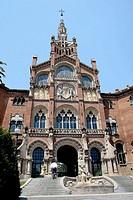Hospital de Sant Pau (1902-1912 by Lluís Domènech i Montaner), Barcelona. Catalonia, Spain