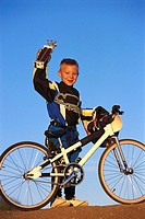 Dirt Biking Boy with Trophy