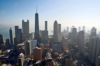 Aerial view of Chicago. Illinois. USA.