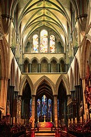 Interior of the Abbey Church of Bath