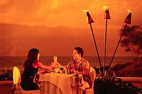 Couple Dining at Sunset