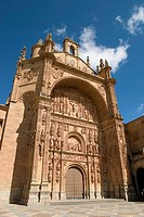 Main front of San Esteban convent (16th century), Salamanca. Castilla-León, Spain