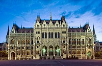 Parliament at sunset. Budapest. Hungary