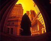 Washington statue, Wall Street, Financial district, Manhattan, New York, USA