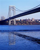 George washington bridge, Hudson river, Manhattan, New York, USA