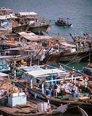 United Arabic emirates, Dubai, Dubai-Creek, landing place, boats  Fore Orient, Near east, near east, Arabic peninsula Arabia VAE of United Arab emirat...