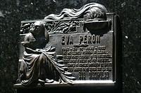 Eva Peron´s gravesite memorial