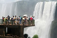 Tourists at Iguazu Falls, Brazil