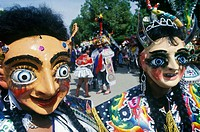 Oruro carnival. La Morenada. Oruro was a ceremonial centre from prehispanic times. In Paria, the first city in Bolivia founded by Spanish, priest José...