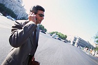 Businessmen Using Cell Phone