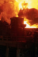 Steel Mill Melting Recycled Metal