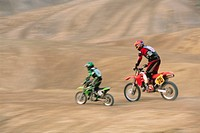 Father and Son Motorcross Biking