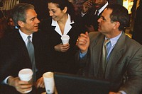 Businesspeople Chatting with Coffee