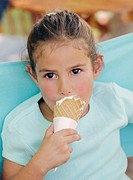 Girl Eating Ice Cream