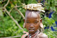 Spectator. Donga ceremony. Surma tribe. Near Kibish. Ethiopia.