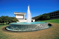 Fountain at the Lyndon B. Johnson Presidential Library