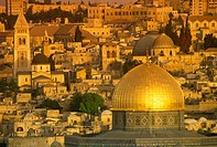 Omar mosque, Dome of the rock, Old city, Jerusalem, Israel.