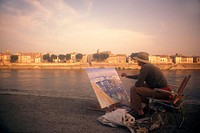 Painter, Arles, Provence, France.