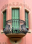 Balcony and windows. Güell Park. Barcelona. Catalonia, Spain