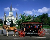 Jackson square, New orleans, Louisianna, USA.