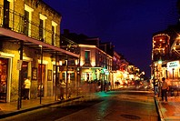 Street scene, Bourbon street, New orleans, Louisianna, USA.