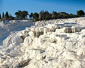 Turkey, Pamukkale, sinter terraces,  Detail  Anatolia, west Anatolia, lime sinter terraces, terraces, sinter lime, sinter lime subjects, lime terraces...