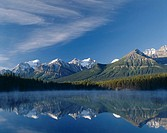 Canada, province Alberta, Rocky Mountains,  Banff National park, Herbert Lake,  North America, northwest Canada, The Rockies, UNESCO-Weltnaturerbe, re...