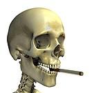 Smoking skeleton  Skeleton smoking a cigarette