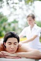 Man enjoying a body massage