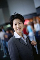 Businesswoman Standing in Airport