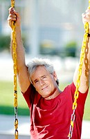 Man sitting on the swing
