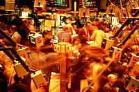 USA, New York city stock exchange parquet,  Stockbrokers,   no models release,  Exchange, stock-exchange dealings, stock trading, shares, trade, shops...