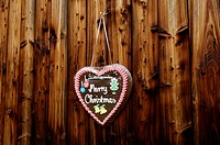 Gingerbread heart, Christmas greetingses,